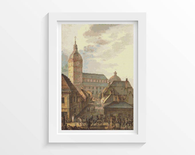 Cross Stitch Pattern Cathedral of Turku by Carl Ludvig Engel (ENGEL01)