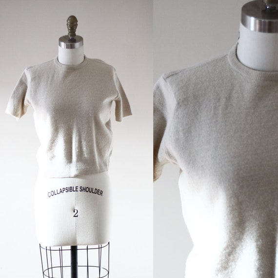 1960s short sleeve sweater // vintage sportswear // vintage womens