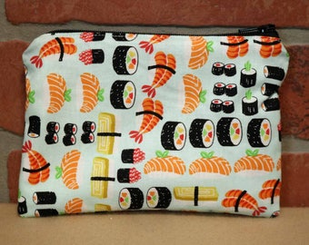 One Snack Sack, Reusable Lunch Bag, Waste-Free Lunch, Machine Washable, Sushi, Back to School, School Lunch, item #SS86
