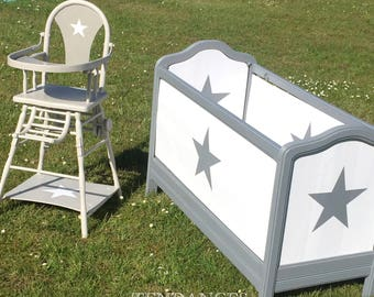 High Chair or bed wooden cabinet