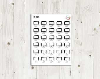 White Computer Planner Stickers - ECLP Stickers