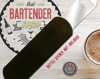 Bottle Opener Protective Pouch Bartender Accessory