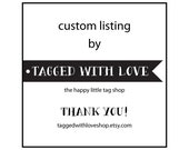 100 custom designed large 3.5 x 2 inch tags