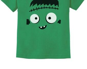 Cute Monster Face Halloween Costume Infant Kids T-Shirt