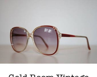 20% OFF Vintage 80s Oversized Sunglasses - Rose Tinted -