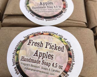 Fresh Picked Apples Handmade Soap 4.5 oz