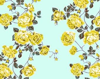 Baby Bedding Crib Bedding - Floral, Yellow, Aqua, Rose - Baby Blanket, Crib Sheet, Crib Skirt, Changing Pad Cover, Boppy Cover