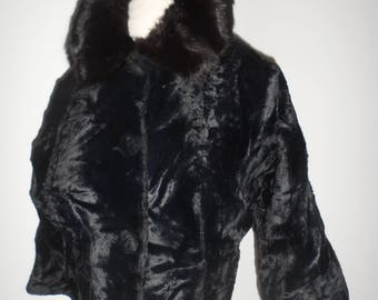 1940s 50s ?  fur collar jacket the speciality house inc vintage sz large but ??