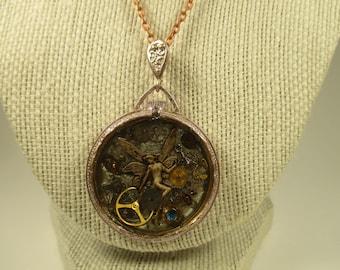 Steampunk Watchcase Necklace