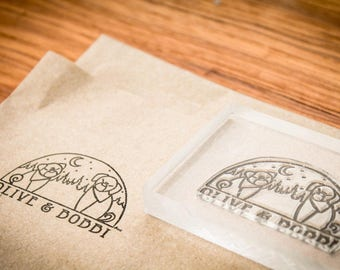 Custom Rubber Stamp - 1 x 1.5 inches