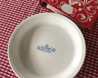 "Corning Ware 9"" Pie Plate *  Cornflower Blue * P-309 Bakeware"