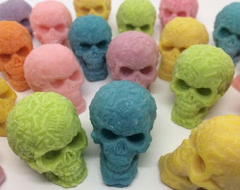 Skull Wax Melts x 20, Skull Candle, Day of the Dead, Sugar Skull, Gothic