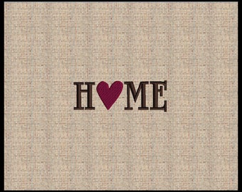 Word Home with Heart O Machine embroidery Design Home Design Heart Embroidery Design