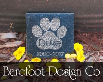 Small 3x3 Granite Personalized Pet Memorial Stone