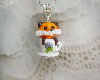 Fox, Pendant fox, Jewelry fox