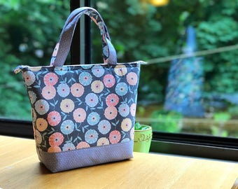 Insulated Lunch Bag/ Lunch Bag insulated/ Lunch Bag with bottle holder/Lunch Bag for women/Tote bag/Lunch Box