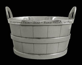Americana Barrel / Bucket by Reed & Barton Silver Plated Wine Champagne Ice - 1932, USA