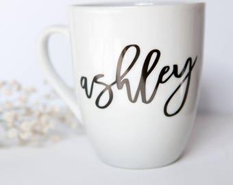 Custom Name Mug, Personalized Name Mug, Bridesmaid Gifts, Wifey Mug, Wedding Gifts, Engagement Gift, Personalized Bridesmaid Mugs
