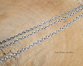 3 x silver mesh chains
