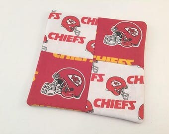 KC Chiefs, Kansas City Fabric, Chiefs Hot Pad, Chiefs Trivet, Kansas City Chiefs, Chiefs Mug Rug, Tailgating, Arrowhead, KC Hot Pad
