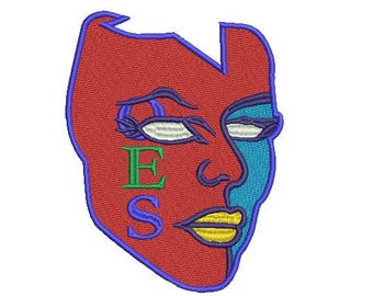 OES (Order of the Eastern Star) mask embroidery design