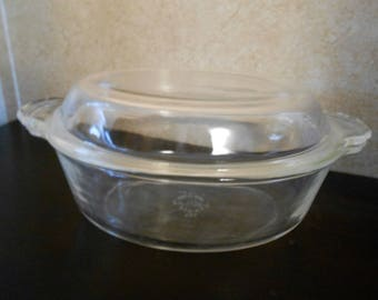 1940's Fire-King Oval Casserole Dish with Lid