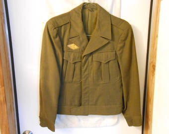 Authentic  WWII Ike Jacket with Lame Duck Patch