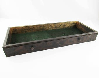 Single Drawer From a Lost Tool Chest - Display Piece - Felt-bottom, Grooved Drawer - Table-top Display - Shabby - Rustic Chic Drawer