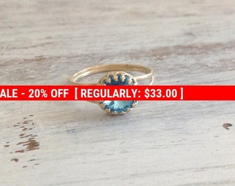 SALE 20% OFF Gold ring, aquamarine ring, cocktail ring, stacking ring, bridesmaids rings, romantic gold ring 7017