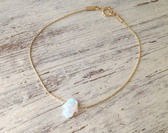 Hamsa bracelet,opal bracelet gold,gold bracelet,opal hamsa bracelet,delicate bracelet,October opal,hamsa charm,minimalist bracelet,gift-6299