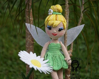 Crochet PATTERN, Crochet doll pattern, Amigurumi dolls pattern, Tinker Bell, Toy, Princess, Fairies, DIY Pattern 126, Instant Download