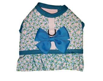 Turquoise Dog Harness, Dog Clothing Pet Harness, Pet Clothing