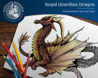 Detailed Dragon Downloadable Coloring Page