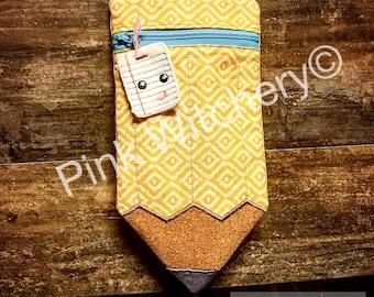 HANDMADE Zipper Pouch for Pencils, Pencil Case, Pencil Pouch, Zippered Pouch