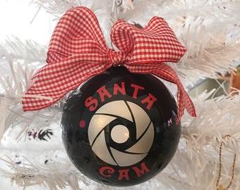 Santa Cam Ornament, Christmas, Santa Claus, Watching, Camera