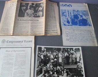 JFK Material / Historic Material /JFK  Memorabilia / 1960 Memorabilia / Assassination Material