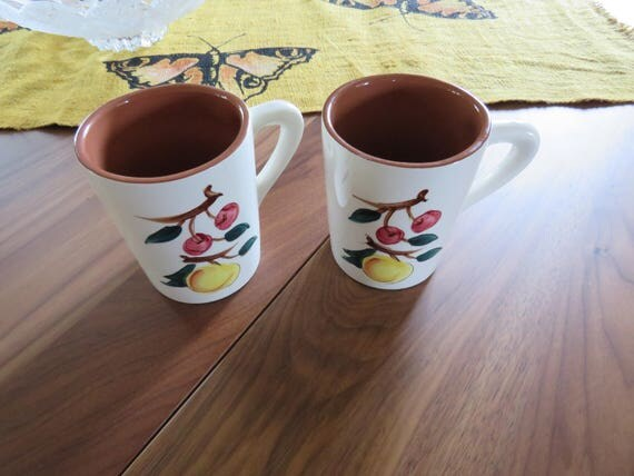 Stangl Pottery Coffee Cups Coffee Mugs Fruit Dura Italy