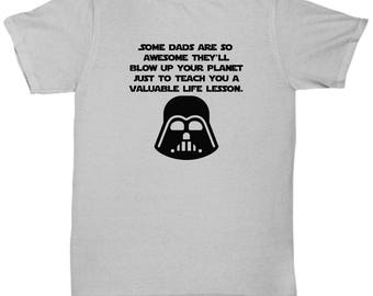 Funny Gift for Dad Star Wars Father's Day Darth Vader Shirt