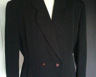 ON SALE Vintage 1940 40s black jacket ww2 landgirl  Le Bon marché Paris L Xl