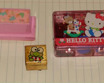 Vintage Sanrio Stamp Sets Keroppi Hello Kitty Animals
