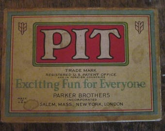 Vintage 1919 PIT Card Game from Parker Brothers Bull & Bear Edition Early 20th Century Commodity Trading in Original Box