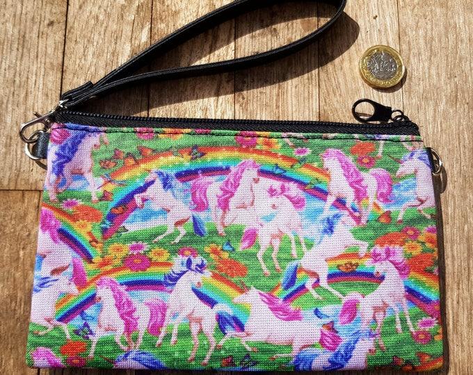 Unicorn & Rainbow Purse - Fantasy Pink Alternative Clutch Bag Horse