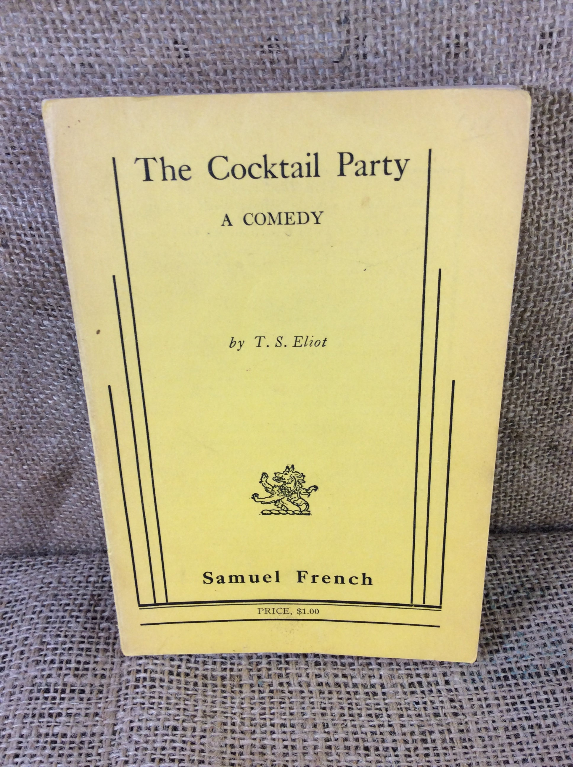 "an analysis of the play the cocktail party by ts eliot At the beginning of the play celia was seen as a woman happy to be a study of celia's character in ""the cocktail party"" by t ts eliot: a."