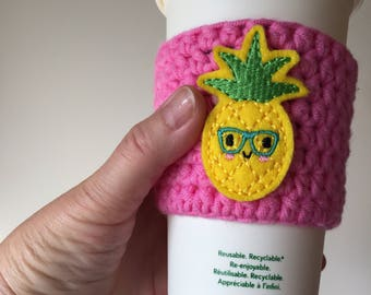 Intellectual Pineapple Cup Cozy