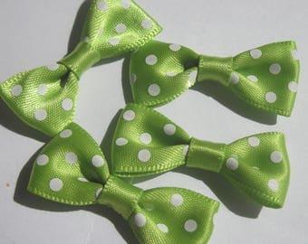 4 Satin Polka dot 34 mm approx (A19) fabric bow