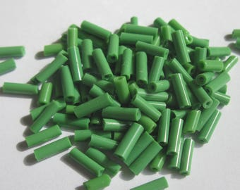 tube glass seed beads about 8 grams - (R105