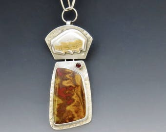 Moroccan Nights Red and Gold Pendant