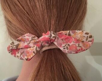 Liberty fabric bow hair elastic