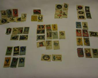 Schicht c1910 Poster Stamps. Advertisements. Reklamemarken. Austrian/German. Solarine/Apollif/Schwan Seife (Swan Soap)