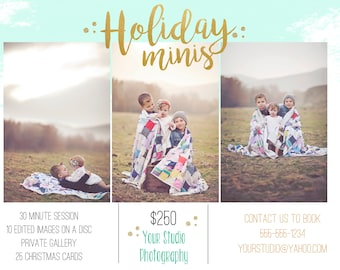 Photography Marketing Board Mini Session Template INSTANT DOWNLOAD